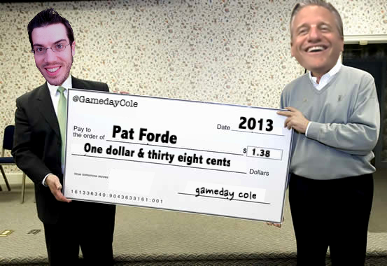 Pat Forde: 2013 Champion, Cole's Gameday Blog
