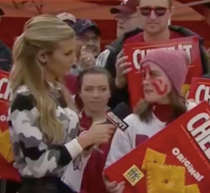 Sam Ponder and Cheeze-It fan